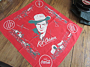 Kit Carson Coca Cola Advertisement Scarf