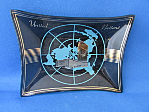 1950 United Nations Smoke Glass Tray