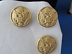 Three Brass Military Wwi Buttons