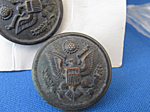 Seven Large Metal Military Buttons From Wwi