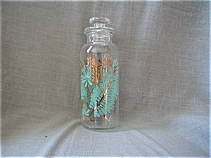 Hand Blown Glass Lidded Painted Jar (Image1)