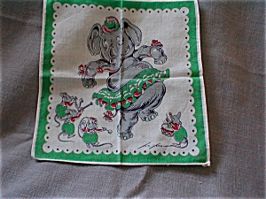 Dancing Elephant Handkerchief