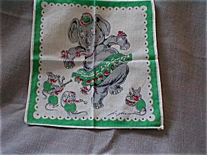 Dancing Elephant Handkerchief (Image1)