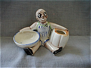 Black Americana Man Holding Bowl
