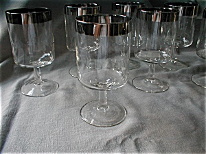 Silver Trimmed Water Glasses (Image1)