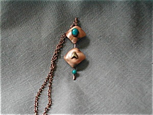 Copper Necklace with Faux Stones (Image1)