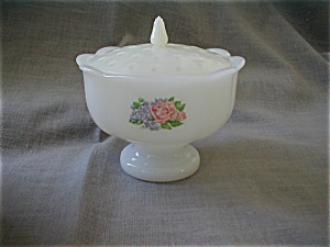 Avon Milk Glass Flower Arranger (Image1)