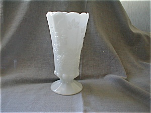 Panel Grape Milk Glass Vase (Image1)