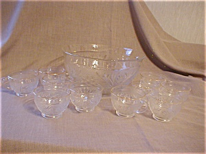 Tiara Punch Bowl And Cups