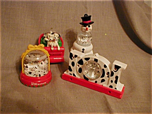 Dalmatian Snow Globes Ornaments