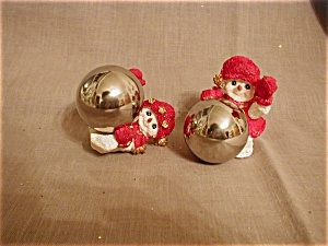 Two Snowmen Decorations