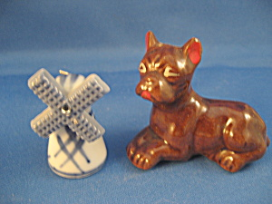 Miniature Dog and Windmill Figurine (Image1)