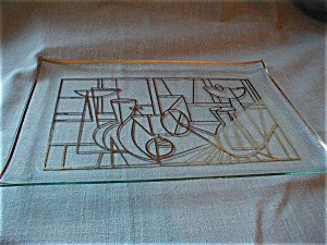 Art Deco Glass Tray