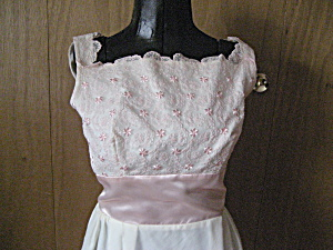 Pink Lace and Satin 60s Formal (Image1)