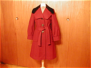 Wool Burgandy Betty Rose Coat