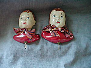 Boy and Girl Chalkware Plaques (Image1)
