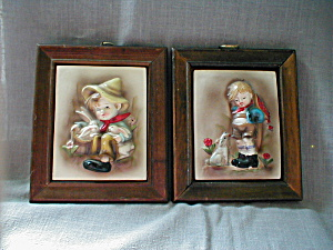 Framed Chalkware Pictures