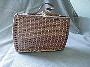 60's Vinyl Straw Purse (Image1)