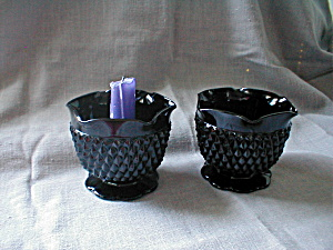 Black Tiara Cameo Glass Candle Holders (Image1)