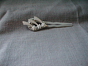 Plastic And Rhinestone Hair Pick