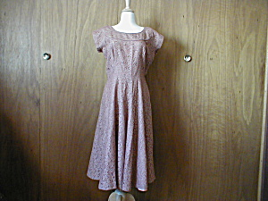 Pink Lace 1940s Dress (Image1)