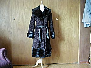 Betty Rose Fake Fur Calf Length Coat (Image1)