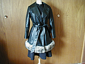 Betty Rose Leather Car Coat