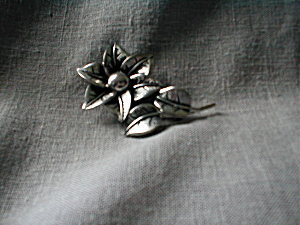 Marvella Silver Flower Brooch