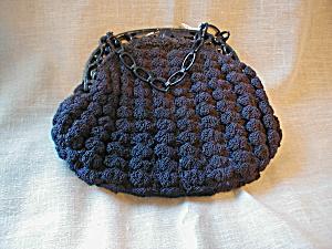 Blue Crocheted Gimp Purse (Image1)