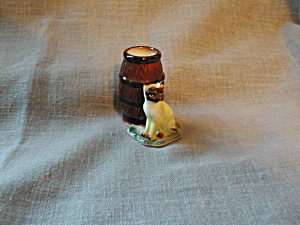 Toothpick Barrel With Cat