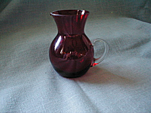 Hand Blown Miniature Red Pitcher