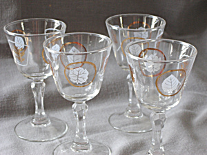 Libbey Foliage Cardial Stem Glasses
