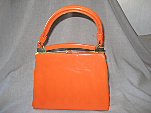 Retro Yellow Patent Leather Purse (Image1)
