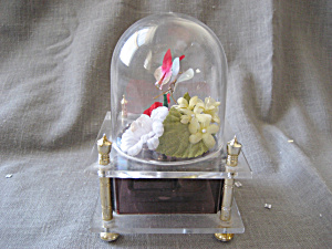 Domed Flower And Butterfly Music Box