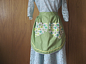 Green Homemade Apron