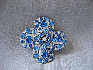 Blue Rhinestone Brooch (Image1)