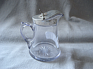 Purple Glass Syrup Pitcher