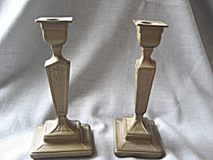Very Old Brass Candle Holders