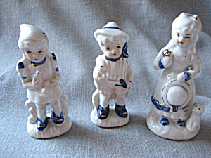 Three Figurines Made In Japan