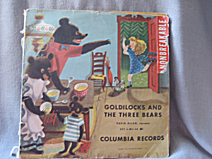 Goldilocks and The Three Bears 78 rpm Record (Image1)