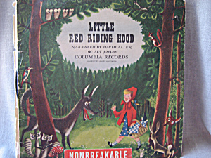 Little Red Riding Hood 78 rpm Record (Image1)