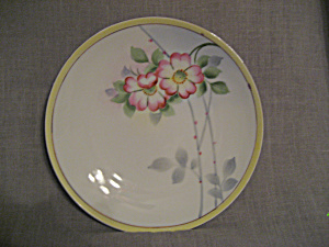 Hand Painted Nippon Flower Plate