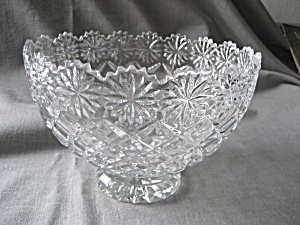 Footed Cut Glass Crystal Bowl (Image1)
