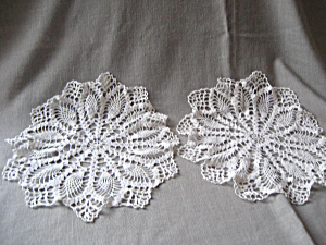 Pair Of White Doilies
