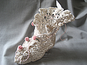 Victorian Boot Made Out of a Doily (Image1)
