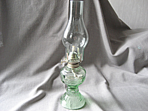 Green Glass Miniature Lamp