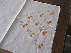 Yellow Flowers Table Scarf