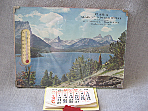 1957 Advertising Calendar And Thermometer