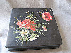 Old Flower Tin Box