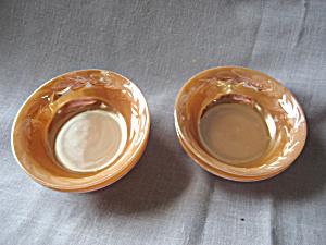 Four Fire King Peach Lustre Bowls (Image1)